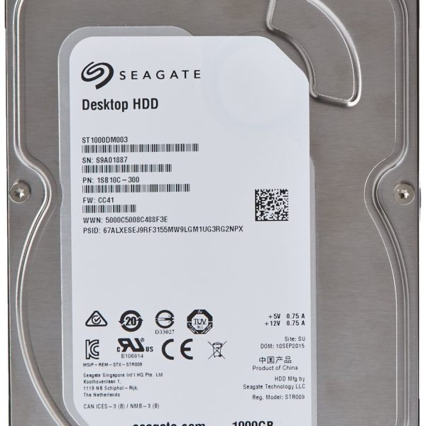 (Old Model) Seagate 1TB Desktop HDD SATA 6Gb/s 64MB Cache 3.5-Inch Intern… NEW