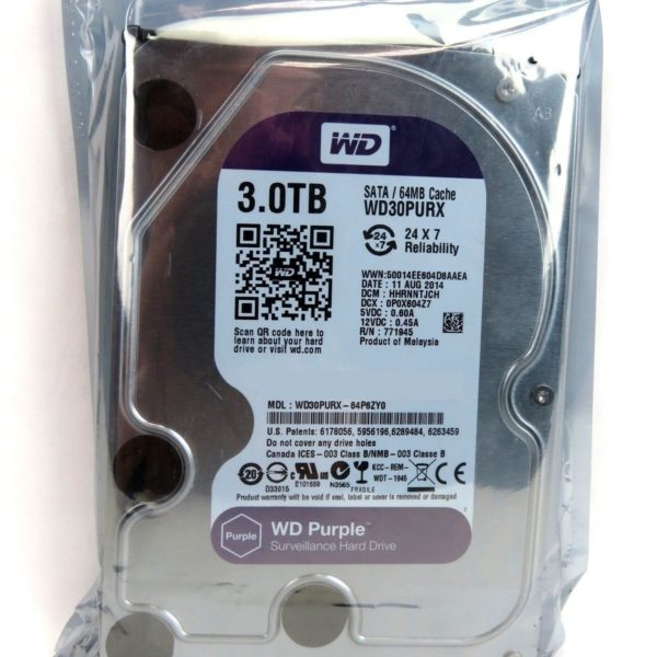 **New** Western Digital WD30PURX 3TB 5400 RPM 64MB SATA 6.0Gb/s 3.5″ HD